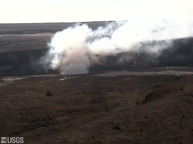 Realtime Web Cam of Kilauea crater