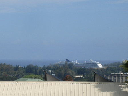 Cruise ship in Hilo Harbor Hawaii