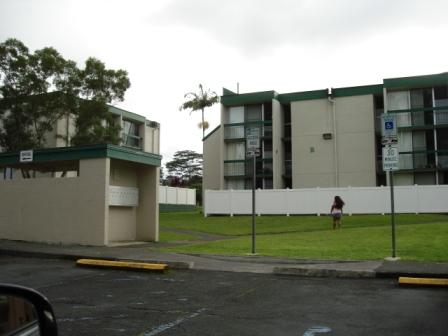 Hale Hoaloha Apts inside parking and play area Hilo