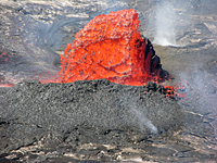 USGS Lava flow near Hilo, Hawaii