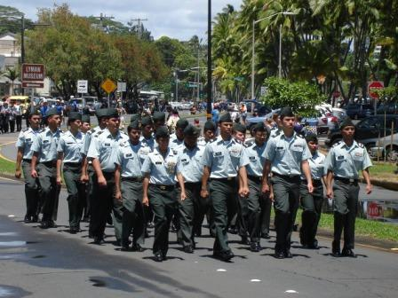 Merrie Monarch Parade ROTC Hilo 2008
