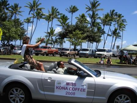 Merrie Monarch Parade Miss Kona Coffee Hilo 2008