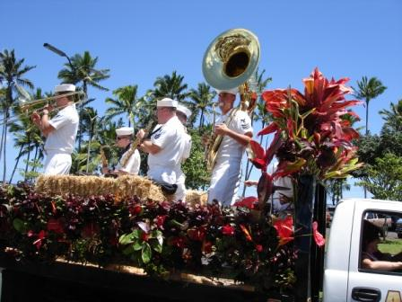 Navy band Merrie Monarch Parade Hilo 2008