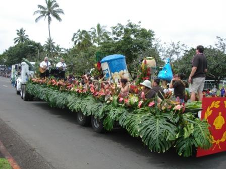 Merrie Monarch parade floats