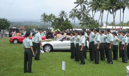 Hilo ROTC in Merrie Monarch parade