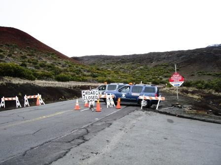 road closed Mauna Kea