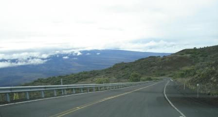 Driving Saddle Road over Mauna Kea