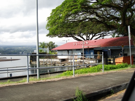Suisan fish market at dock in Hilo, Hawaii