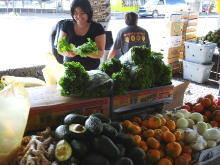 Farmer's market in Hilo, Hawaii